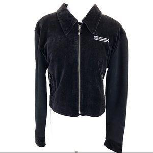 Harley Davidson velvet and knit jacket black - L